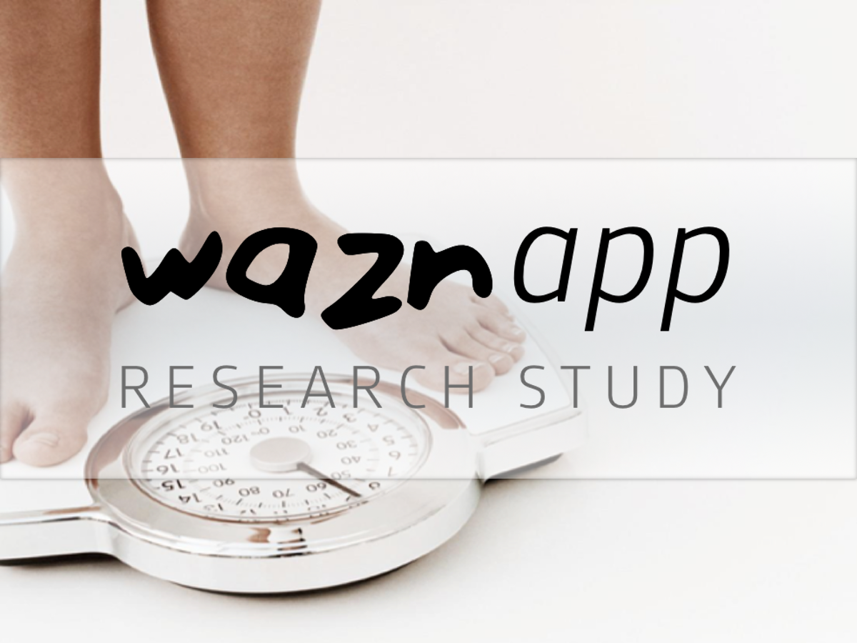JRP - A Self-Directed Mobile Intervention (WaznApp) to